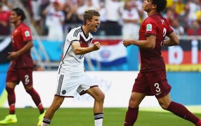 Nemecko zničilo Portugalsko, Müller ako prvý hráč MS s hattrickom