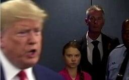 Nenávistný pohľad Grety Thunberg smerom k Trumpovi si ľudia zamilovali. Vzniklo množstvo vtipných obrázkov