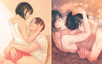 Není nic krásnějšího než intimita ve vztahu. Umělkyně to dokazuje skrze ilustrace svého manželství