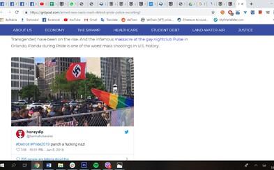 Neonacisté přišli překazit duhový pochod v Detroitu. Vytáhli vlajky s hákovým křížem i zbraně
