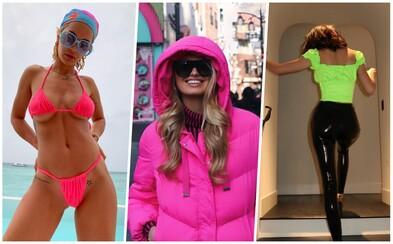 Neonový trend ovládl začátek roku 2019. Oblíbily si ho krásky jako Kendall Jenner, Bella Hadid nebo Rita Ora