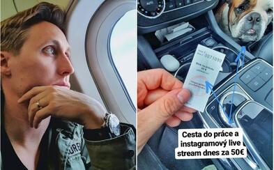 Nepoužívaj Instagram za volantom. Sajfov livestream polícia potrestala 50 € pokutou