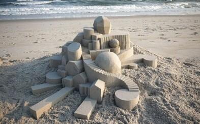 Neskutočne precízne geometrické hrady z piesku