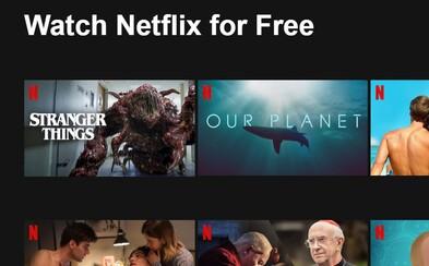 Netflix začína ponúkať filmy aj seriály zadarmo. Chce tak navnadiť ľudí, aby si službu predplatili