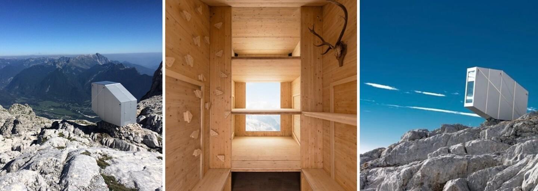 Netradičná vysokohorská útulňa ponúka úžasný 360-stupňový výhľad na okolité Slovinsko a Taliansko