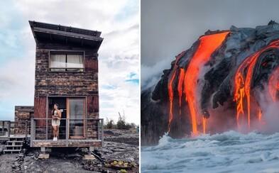 Netradiční Airbnb na Havaji nabízí ubytování vzdálené 6 kilometrů od aktivní sopky