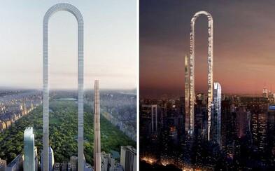 Netradičný mrakodrap zahnutý do písmena U môže vyrásť v New Yorku. Dlhý je viac než 1,2 kilometra