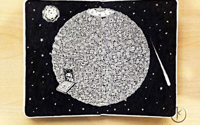 Neuveriteľne detailné a prepracované čierno-biele kresby
