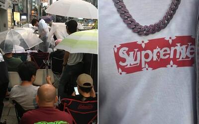 Neuvěřitelných 7500 lidí čekalo ve frontě před tokijskou prodejnou se společnou kolekcí Supreme s Louis Vuitton