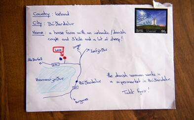 Nevedel presnú adresu islandskej farmy, tak na obálku nakreslil mapku. Poštár ju nakoniec aj skutočne doručil!