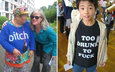 Nevhodné, ale vtipné anglické nápisy na tričkách ľudí v Ázii. Ak vyzerajú dobre, prečo ich nenosiť?