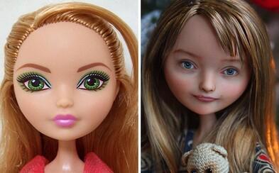 Nevkusné a umělé panenky přetváří na přirozeně krásné ženy. Odstraněním makeupu dokáže ukrajinská umělkyně nadělat divy