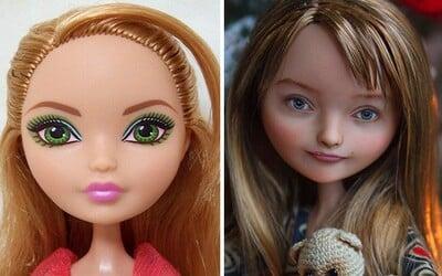 Nevkusné a umelé bábiky pretvára na prirodzene krásne ženy. Odstraňovaním mejkapu dokáže ukrajinská umelkyňa narobiť divy