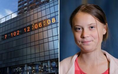 New York má vlastné klimatické hodiny. Ukazujú, koľko času zostáva ľudstvu, jedny dostala aj Greta Thunberg