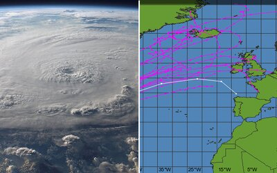 Ničivé hurikány Maria a Lee sa otáčajú k Európe. Pri mori môže výška vĺn dosiahnuť aj sedem metrov