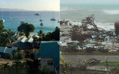 Ničivý hurikán Irma srovnal Karibik se zemí. Fotografie a videa zaznamenávají obrovské škody, které po sobě zanechal