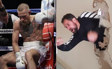 Nie je bitkár, ale Conora McGregora vyzval na súboj. Vtipný chlapík si z Íra uťahuje dobre načasovanými fotkami