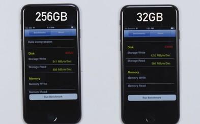 Niečo, o čom Apple nehovorí. 32 GB iPhone 7 obsahuje osemnásobne pomalšie úložisko ako 128 a 256 GB model