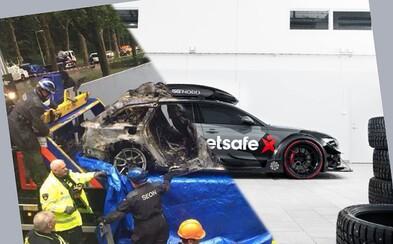 Niekdajšia beštia Jona Olssona, najslávnejšia RS6-ka pod slnkom, po krádeži zhorela do tla