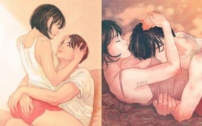 Niet ničoho krajšieho ako nežná intimita vo vzťahu. Umelkyňa si to uvedomuje vďaka svojim ilustráciám priamo z manželstva