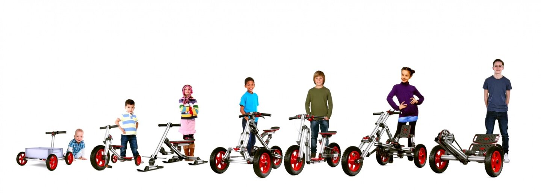 Nizozemci navrhli stavebnici, která dětem vydrží celé dětství a mohou si z ní postavit jakékoliv vozítko