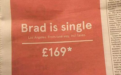Nórsky letecký dopravca môže vyučovať marketing. Rozvod slávneho hollywoodskeho páru využil k originálnej propagácii svojich leteniek