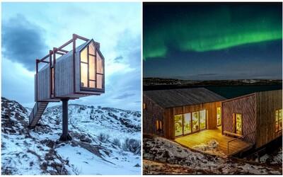Nórsky ostrov ponúka nádherné ubytovanie mimo civilizácie. Z luxusných chatiek môžeš pozorovať aj polárnu žiaru