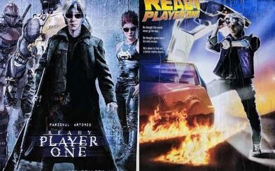 Nostalgické plagáty pre Ready Player One vzdávajú poctu nielen sci-fi klasikám minulého storočia