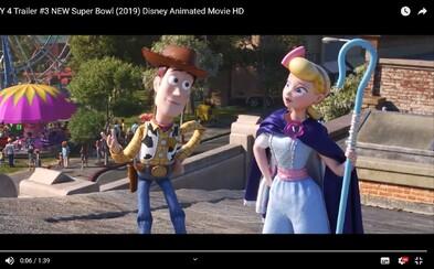 Nostalgické ukážky pre Toy Story 4 ukazujú Woodyho so svojou novou bojovníckou láskou