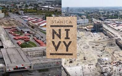 Nová bratislavská stanica Nivy rastie už 1 rok ako z vody. Časozberné video ťa pohltí do výraznej zmeny nášho hlavného mesta