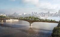 Nová chlouba Londýna? Stavba unikátního zahradního mostu na řece Temži zanedlouho začne
