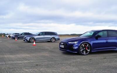 Nová RS6 si změřila síly s úhlavní konkurencí. Výsledek fanoušky Audi nepotěší