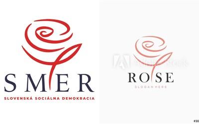 Nové logo Smeru vychádza z obyčajnej šablóny, ktorú môže použiť ktokoľvek. Služba Adobe ju ponúka za 64 eur