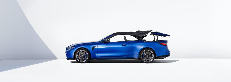 Nové M4 Cabrio přichází výlučně jako Competition s pohonem M xDrive a premiérově s plátěnou střechou