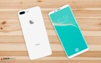 Nové rendery nabízejí pohled na možnou podobu iPhonu 8. Zaoblený displej doplňuje i absence home tlačítka