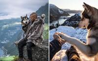 Novodobý viking zachytáva dychberúce fotografie severskej prírody. Espenovi robí na cestách spoločnosť krásny aljašský malamut