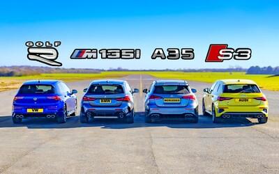 Nový Golf R při sprintech rozdrtil konkurenční Audi, BMW i Mercedes-AMG