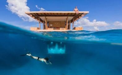 Nový hotel pre milovníkov dobrodružstva sa nachádza štyri metre pod hladinou Indického oceánu