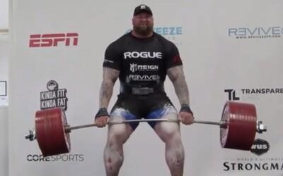 Nový svetový rekord! The Mountain z Game of Thrones zdvihol 501 kg na mŕtvy ťah
