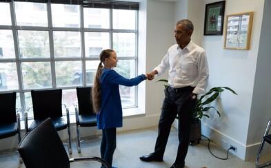 Obama sa stretol s mladou aktivistkou Gretou Thunbergovou. Ty a ja sme tím, povedal