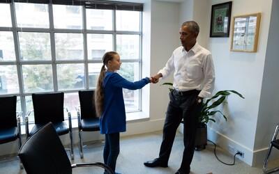 Obama se setkal s mladou aktivistkou Gretou Thunberg. Ty a já jsme tým, řekl