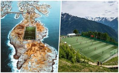 Obklopené morom alebo na streche budovy. Vybrali sme úžasné futbalové ihriská na nezvyčajných miestach