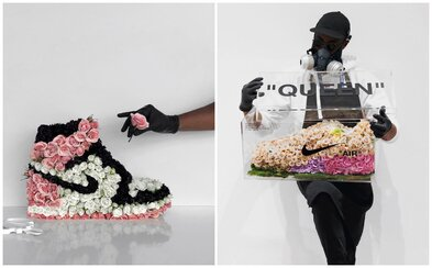 Obľúbené tenisky vytvára pomocou stoviek kvetov. Diela talentovaného umelca si zamilovali tisíce ľudí