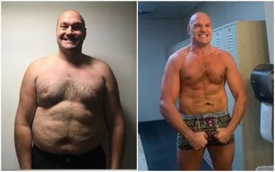 Obrovská proměna Tysona Furyho. Slavný boxer přidal na Instagram fotky toho, jak zhubl skoro 60 kilo