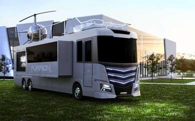 Obrovský luxusný karavan, ktorý má na streche vlastnú helikoptéru. Spoločnosť Furrion premenila odvážne sny na skutočnosť