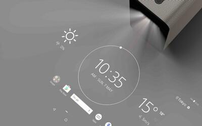 Obyčajný stôl vie premeniť na dotykovú plochu. Unikátny projektor Sony Xperia Touch prichádza z budúcnosti