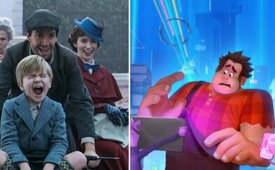 Očakávané Disneyovky Mary Poppins Returns a Wreck-It Ralph 2 sa predstavujú dvojicou lákavých obrázkov