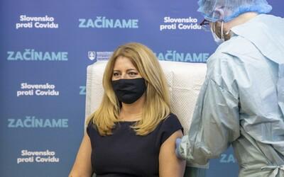 Očkovat se už nechala i slovenská prezidentka Zuzana Čaputová