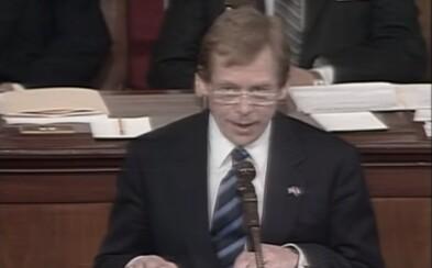 Od prvního vystoupení Václava Havla v americkém Kongresu uběhlo 30 let. Podívej se na legendární proslov bývalého prezidenta