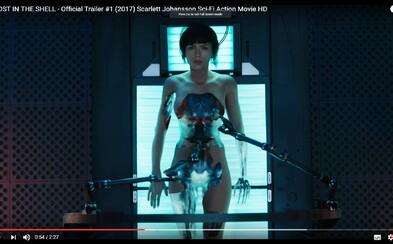 Od vizuálne dokonalého Ghost in the Shell s očarujúcou Scarlett Johansson v prvom traileri neodtrhnete oči